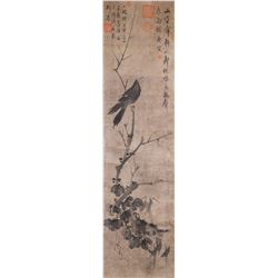 TANG YIN (after) Chinese 1470-1524 Ink Crow Scroll