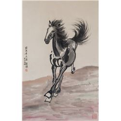 XU BEIHONG Chinese 1895-1953 Watercolor Horse