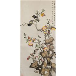 ZHOU WUSHENG Chinese Modern Watercolor Scroll