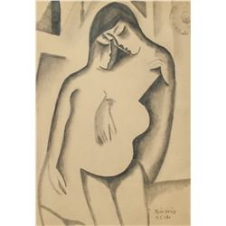 BELA KADAR Hungarian 1877-1956 Graphite on Paper