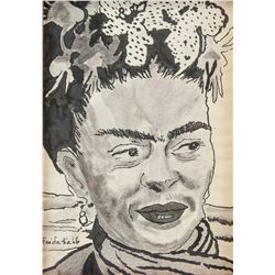 FRIDA KAHLO Mexican 1907-1954 Ink on Paper