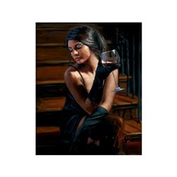 Saba On the Stairs with Wine by Perez, Fabian