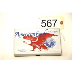 American Eagle Knife And Coin Set