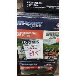 NEW MOTORCYCLE BATTERY CTX16-BS/$66.95