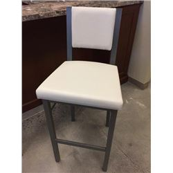 NEW White Leather Bar Stool