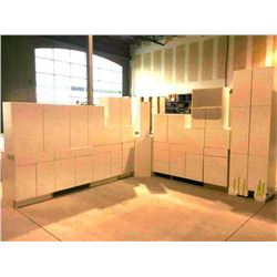 NEW white Cabinet set ( 37 DOORS) includes all uppers assorted size and Vanity base cabinets assorte