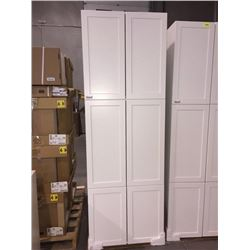 "NEW White 30"" x 80"" - 6 door Pantry Cabinet"