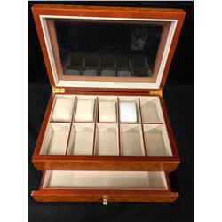 10 Grid Slot Mens Watch box Women Jewelry Display Drawer Case