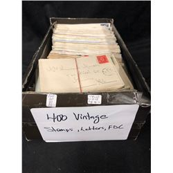 400 VINTAGE STAMPS/ LETTERS/ FDC