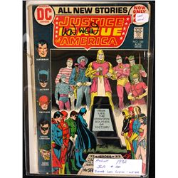 1972 JUSTICE LEAGUE OF AMERICA #100 SIGNED BY WRITER LEN WEIN