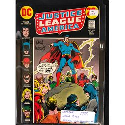 1972 JUSTICE LEAGUE OF AMERICA #102 SIGNED BY WRITER LEN WEIN