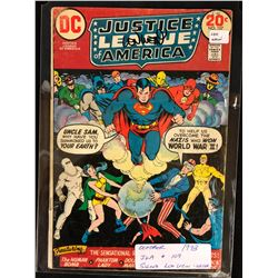 1973 JUSTICE LEAGUE OF AMERICA #107 SIGNED BY WRITER LEN WEIN