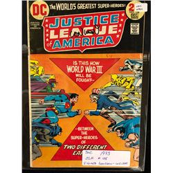 1973 JUSTICE LEAGUE OF AMERICA #108 SIGNED BY WRITER LEN WEIN