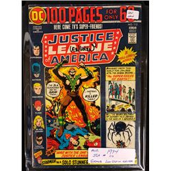 1974 JUSTICE LEAGUE OF AMERICA #112 SIGNED BY WRITER LEN WEIN