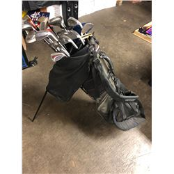 GOLF BAG W/ VARIOUS CLUBS