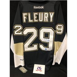 MARC-ANDRE FLEURY SIGNED PENGUINS JERSEY W/ AJ SPORTS COA