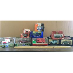 GR OF 10, TOY CARS, MOST ARE CORGI, NEW IN BOX