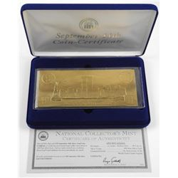 Lot (2) Memorial Notes - 24kt Gold Leaf and Silver