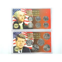 Lot (2) Oval Office Coin Sets: Half Dollar and 25