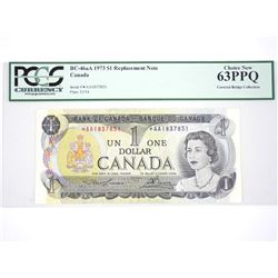 Bank of Canada 1973 - One Dollar Note * Replacemen