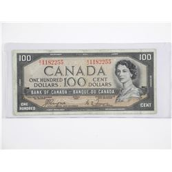 Bank of Canada $100 Devils Face. C/T.