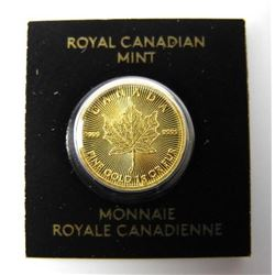 .9999 Fine Pure Gold Maple Leaf Coin