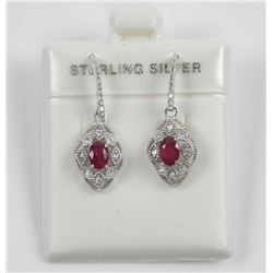 925 Sterling Silver Earrings, Oval Rubs - 1ct Fila