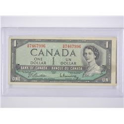 Bank of Canada 1954 - 'ERROR' * 1.00 Note 'Cut Off