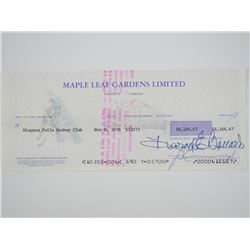 Scarce Maple Leaf Gardens - Check, Signed by 'Haro