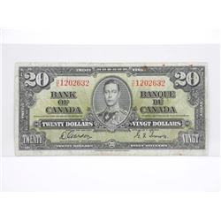 Bank of Canada 1937 - Twenty Dollar note G/T