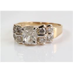 Estate - Ladies 14kt Gold Diamond Ring, (.95ct) Di