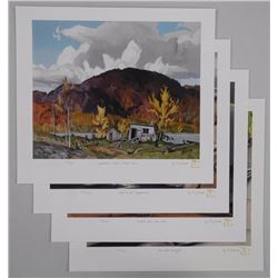 A.J. Casson (1898-1992) Litho 4 Folios Match Editi