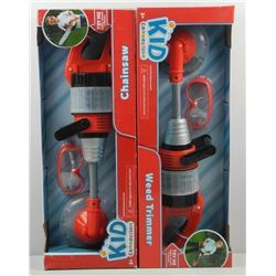 Lot (2) Weed Trimmer and Chainsaw 'Kid Collection'