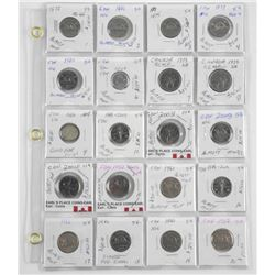 Lot (20) CAN Coins Identified, Dealer Stock (EXR)