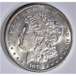 1879-S REV OF 78 MORGAN DOLLAR, CH BU