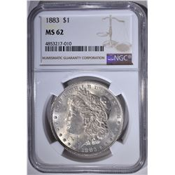 1883 MORGAN DOLLAR, NGC MS-62