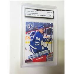 Auston Matthews 2016 Upper Deck Rookie graded 10 Gem mint # 1