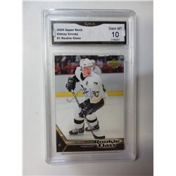 2005 Upper Deck Sidney Crosby #1 Rookie graded 10 Gem mint