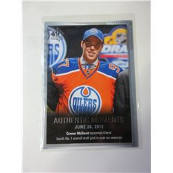 Connor McDavid Authentic Moments Rookie Card june 26/2015 #153