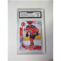 2015 Upper Deck Connor McDavid Rookie Card graded 10 Gem mint # 6