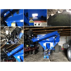 2016 J & M 812 X-TENDED REACH GRAIN CART WITH ROLL TARP ALSO HYDRIC OR PTO DRIVE