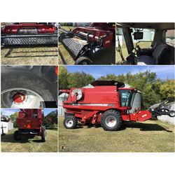 2007 CASE 2588 ROTARY COMBINE WITH 14' CASE 2015 SWATHER PU