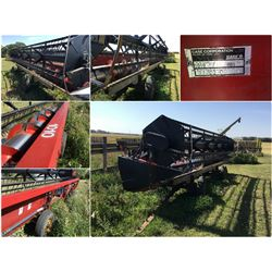 2002 CASE 1010 25' AUGER HEADER WITH  TRANSPORT