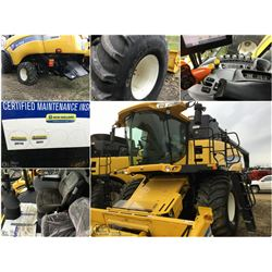 2010 NEW HOLLAND CX8080 COMBINE WITH NH 76C 14' SWATHMASTER PU