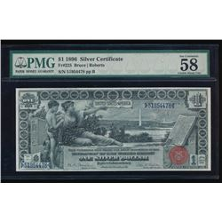 1896 $1 Educational Silver Certificate PMG 58