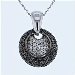 14KT White Gold 1.39ctw Diamond Pendant with Chain