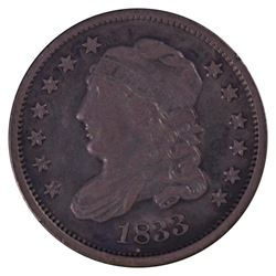 1833 Liberty Capped Bust Half Dime Coin