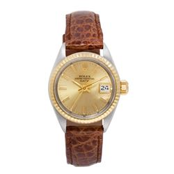 Rolex DateJust 14KT Gold and Stainless Steel Ladies Wristwatch