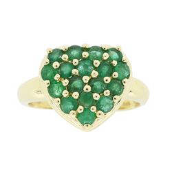 10KT Yellow Gold 1.25ctw Emerald Ring