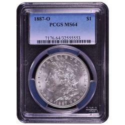1887-O $1 Morgan Silver Dollar Coin PCGS MS64